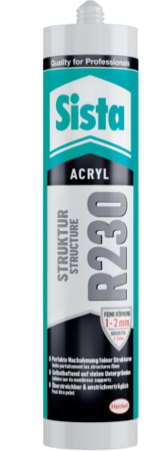 Sista R230 Acrylat-Dichtstoff, 300ml, Fein
