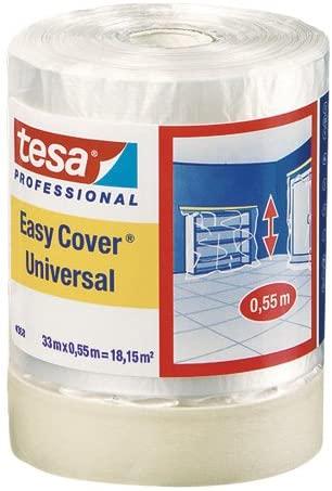 tesa Easy Cover Universal 4368/1400mm, Allzweckkrepp mit Abdeckfolie
