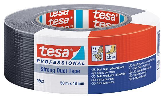 tesa Allzweckband/Steinband 4662 48mm, schwarz