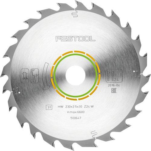 Festool Standard-Sägeblatt 230x2,5x30 W24