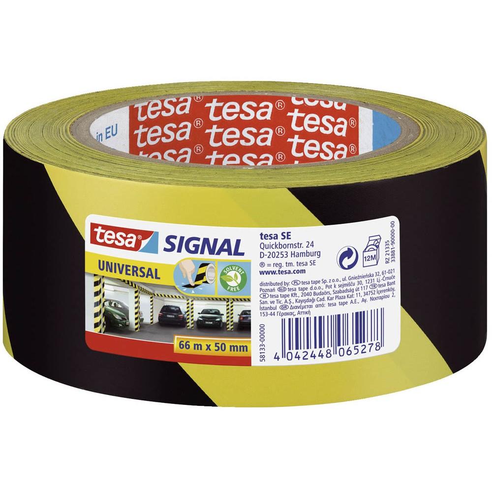 tesa Markierungsklebeband 60760, 33m x 50mm, gelb/schwarz