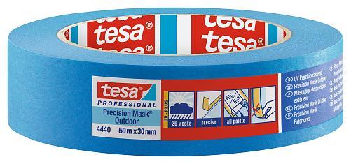 tesa UV Präzisionskrepp 4440 50m x 19mm blau