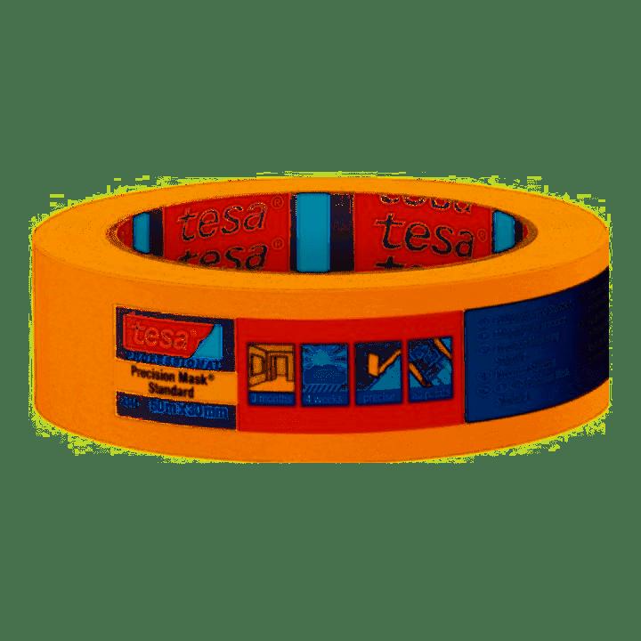 tesa Präzisionskrepp 4344 50m x 50mm orange