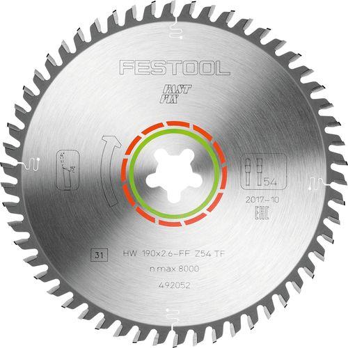 Festool Kreissägeblatt LAMINATE/HPL HW 190x2,6 FF TF54 492052