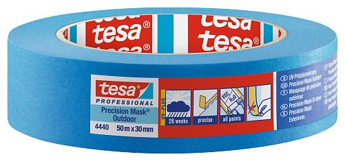 tesa UV Präzisionskrepp 4440 50m x 30mm blau