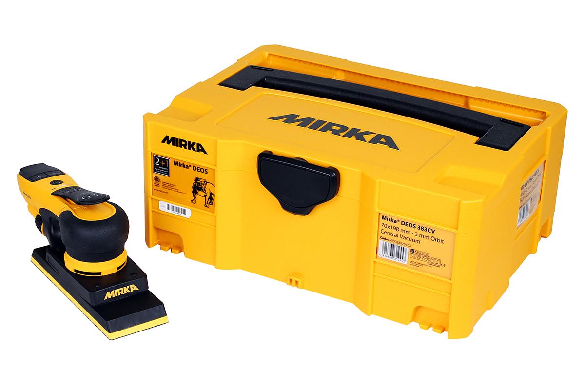 Mirka DEOS 353CV Elektro Schwingschleifer 81x133mm CV 3,0 Hub incl. Systainer und ProbeSchleifpapier